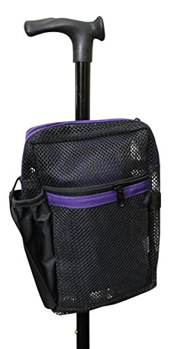 Cane Buddy - Secure Pouch for Cane, Walker, Crutches and Wheel Chairs (Purple)